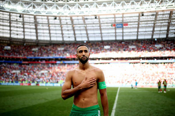 画像:モロッコ代表としてW杯を戦っているベナティア