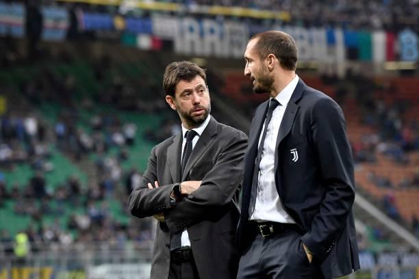 画像:アニェッリ会長とキエッリーニ