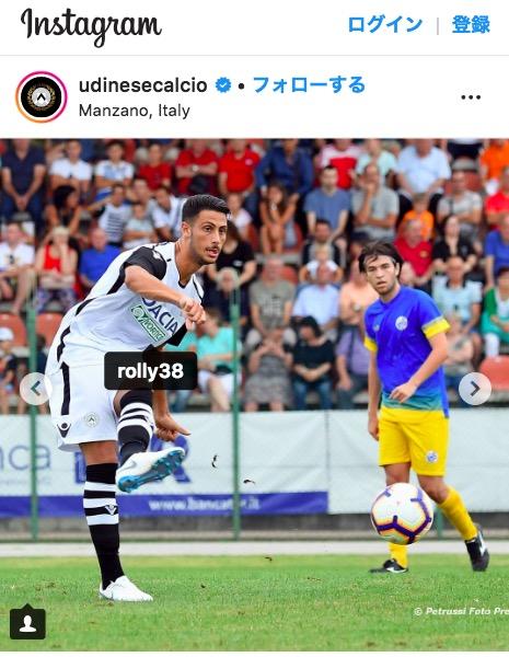 画像:ウディネーゼで親善試合をプレーするマンドラゴラ