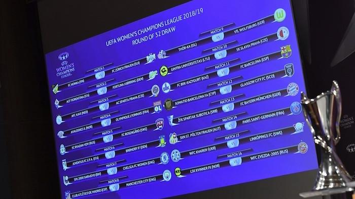 画像:2018/19 UEFA women's Champions League Round32