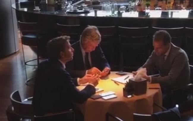 画像:ミラノで会談したユベントスとジェノアのフロント陣
