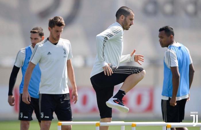 画像:コンティナッサで調整する選手たち