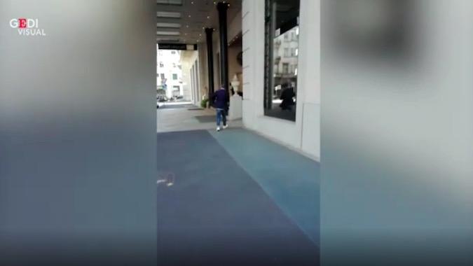 画像:ミラノで目撃されたサッリ監督