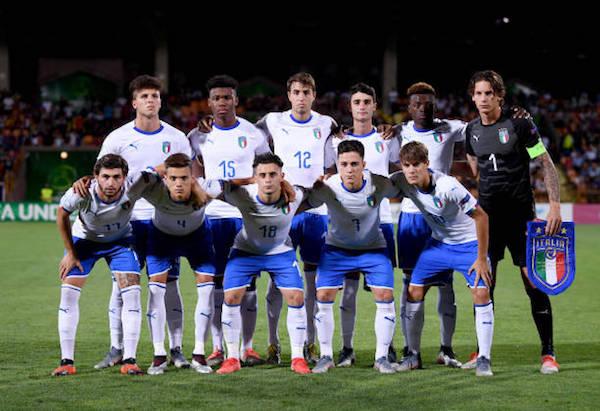 画像:2019 U-19 欧州選手権に臨んだイタリア代表