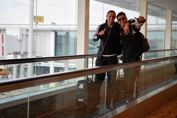 画像:アジア・ツアー中のラビオとブッフォン
