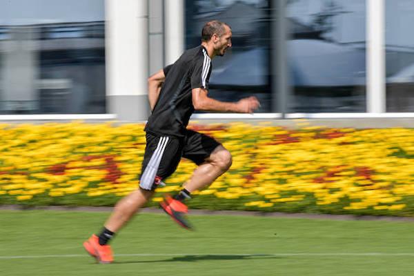 画像:全体練習への復帰が発表されたキエッリーニ