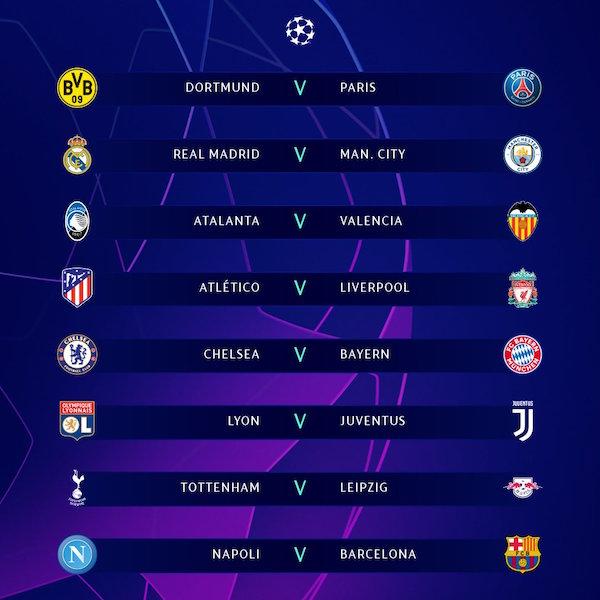 画像:2019/20 UEFA Champions League - Round 16