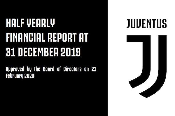 画像:ユベントスの財務報告書・2019/20 シーズン前期