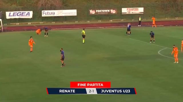 画像:レナーテに敗れたユベントス・Bチーム