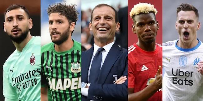 画像:アッレグリ監督復帰で獲得が噂される選手たち