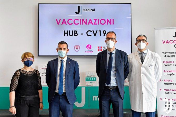 画像:ワクチン接種会場として利用されるJメディカル