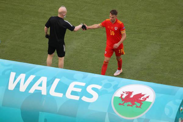 画像:ウェールズ代表として先発出場したラムジー