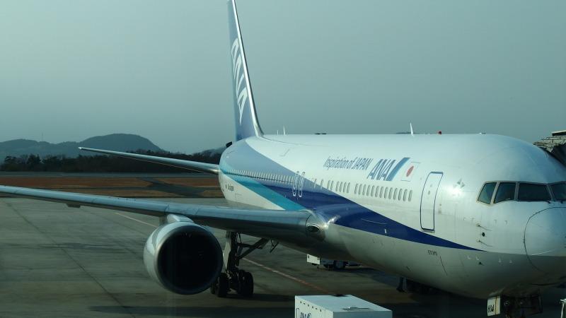 広島空港 ANA B6