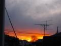 [空][夕陽]夕べの日没