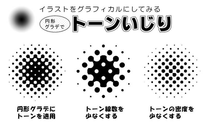 イラストをグラフィカルにするトーン模様の使い方マニュアル