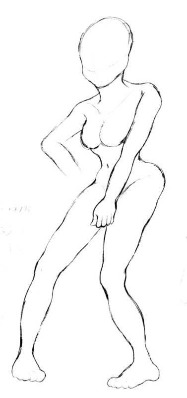 jkイラストを描くにあたっての人体デッサンラフ