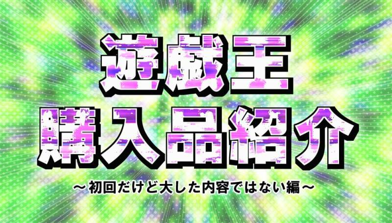 遊戯王購入品紹介のタイトルグラフィック