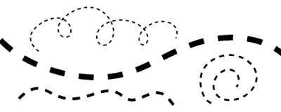 点線ブラシを使うとこんな感じの線が描ける
