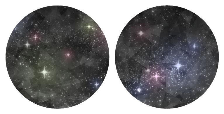 イラスト背景_ガラス風テクスチャを加えた星空