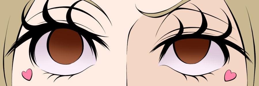 Twitterヘッダー画像_オリキャラの顔アップ(色塗り途中)