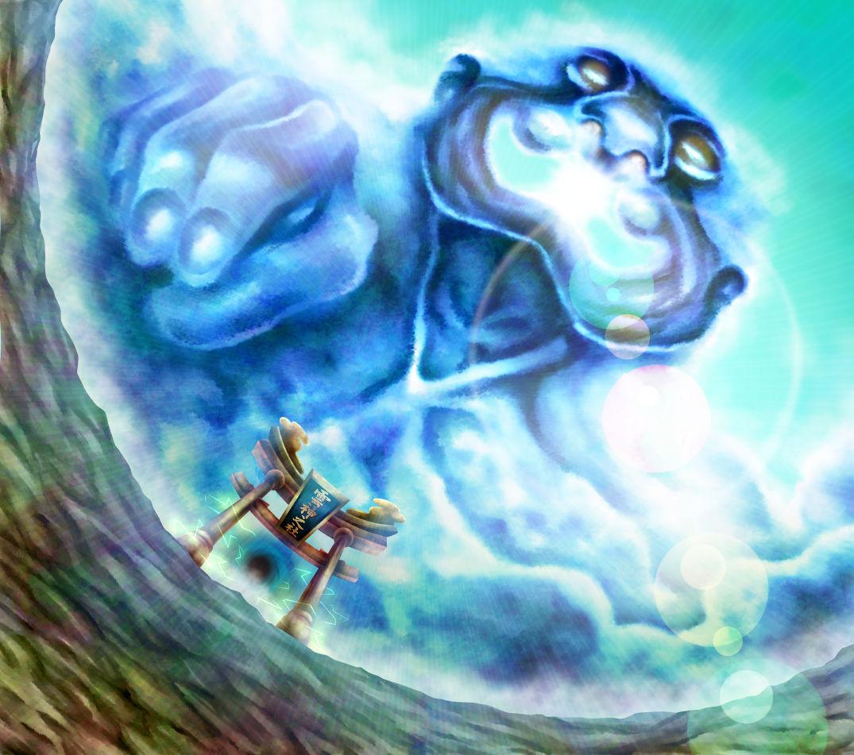 雲の神様完成イラスト