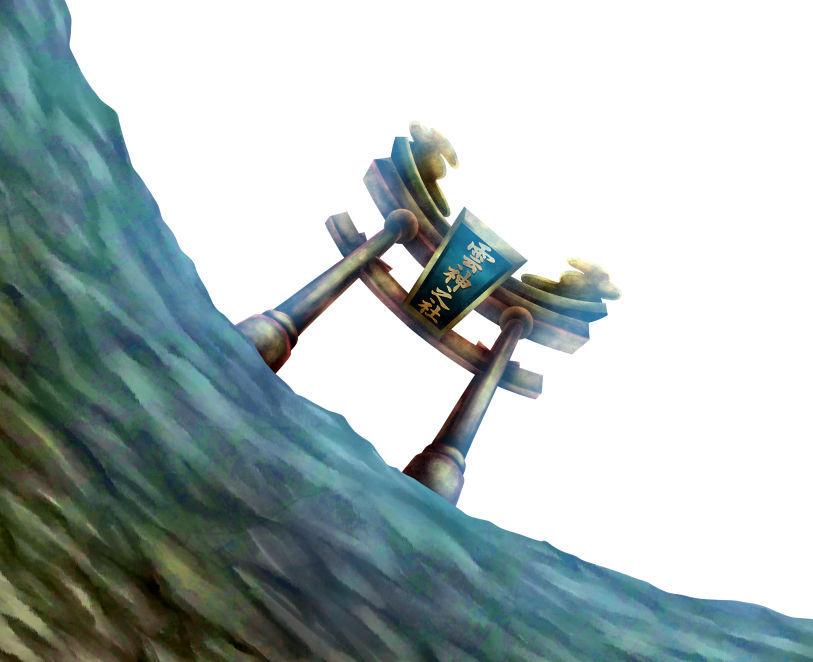 雲神之社 鳥居の厚塗りイラスト