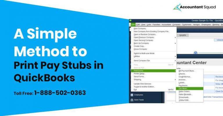 QuickBooks print pay stubs