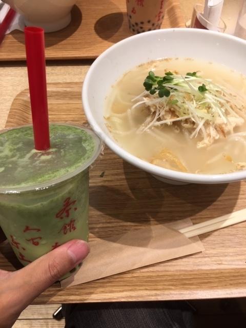 第二弾春水堂のランチ「鶏湯麺」とタピオカ抹茶ミルクがとってもおししい♡