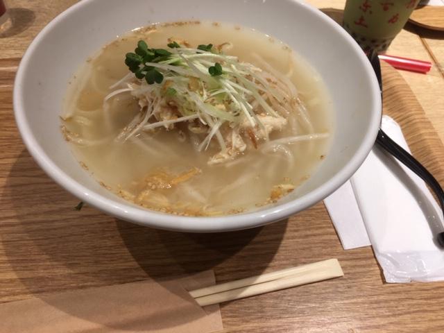 鶏湯麺(ジータンメン)ランチ750円