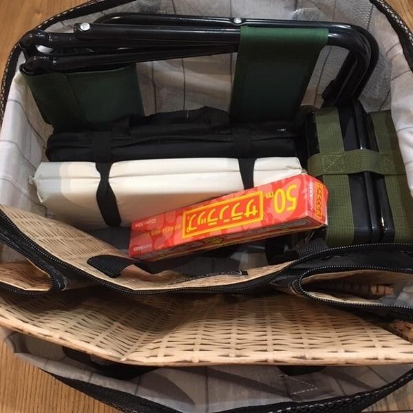 【3コインズ】買い物かごにピッタリはまる♡袋詰めの手間が省けるレジカゴエコバック!