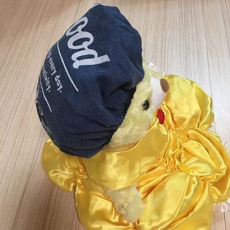 【セリア】丸椅子もかわいいほうがいい♡かわいい帽子みたいにかぶせるカバー!