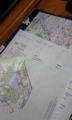 地図を切っただけの便箋^-^ ドイツの地図らしい
