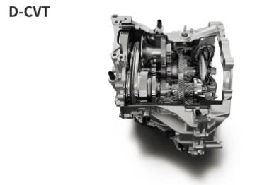 新開発「D-CVT」は従来のCVT同様のベルト駆動に新たにギアを組み込む