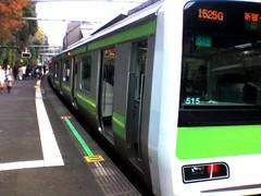 原宿駅3番線 山手線到着