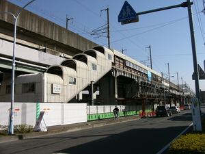 ニューシャトル大成駅2007年2月4日