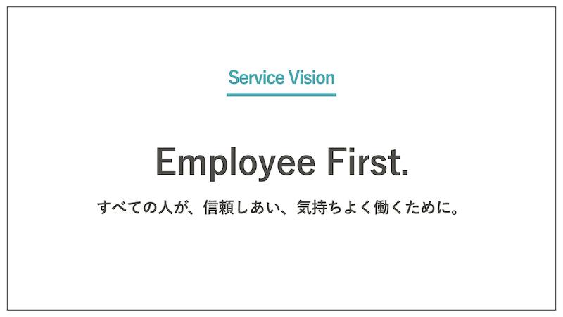 Employee First. すべての人が、信頼しあい、気持ちよく働くために。