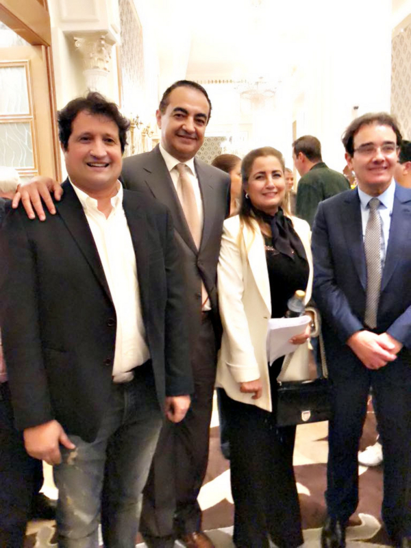 Mohamed Dekkak Chairman and Founder of Adgeco Group with Abdelali Namli (Sky News), Wafa Lamrani