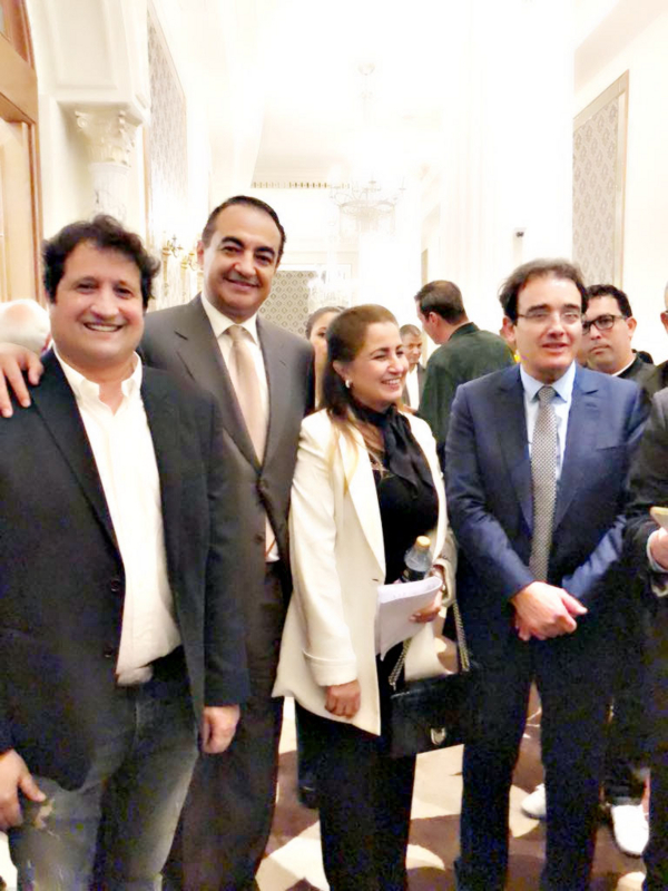 Mohamed Dekkak Chairman and Founder of Adgeco Group with Abdelali Namli (Sky News), Wafa Lamrani