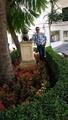 Mohamed Dekkak and Statue of Jaime de Mora and Aragón Marbella Spain