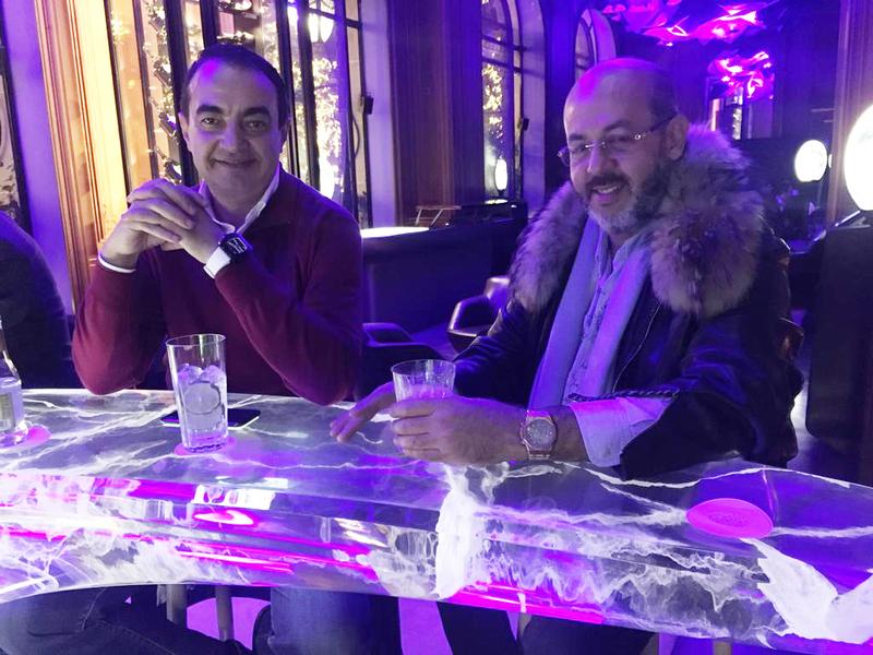 Mohamed Dekkak with Mustapha Alaoui at Hotel Plaza Athénée in Paris