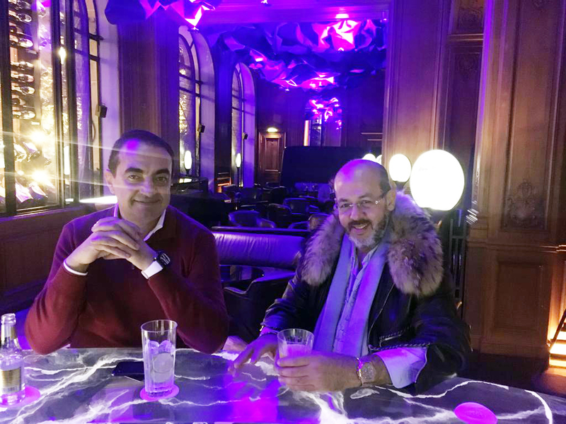 Mohamed Dekkak with Mustapha Alaoui at Hotel Plaza Athénée in Paris
