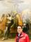 Mohamed Dekkak standing with Charles Le Brun Painting  Paris France #painting #delaroche #travel