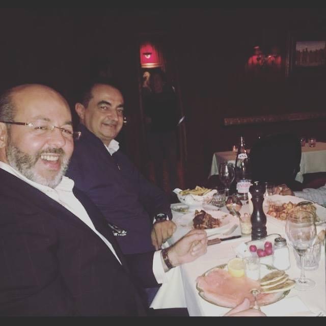 Mohamed Dekkak and Mustapha Alaoui at Restaurant & Bar Le Piaf Paris #travel #culture #cafe # ba