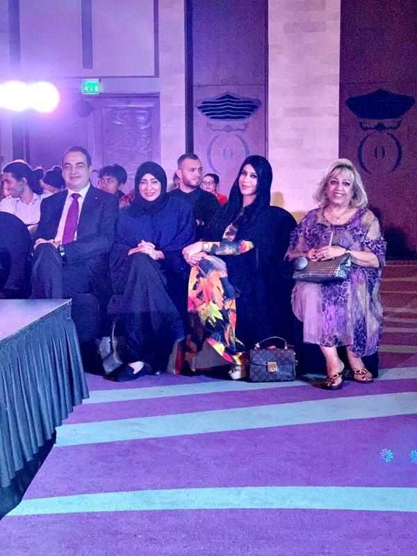 Mohamed Dekkak with Laila Rahall and Meera Alnaqbi at Fashion Sustainability Summit 2019 at Sofi