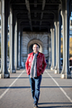 Mohamed Dekkak at Bir Hakeim Bridge Paris France