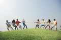 Tug-of-war is a game that's famous all over the world and has a long and old history. Two grou