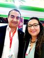 Mohamed Dekkak with Mrs Heuda Farah Guessous at Gulfood Dubai World Trade Center  #foodfestival