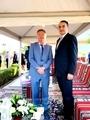 Mohamed Dekkak and H.E Oto Pungartnik Ambassador of Republic of Slovenia to UAE attends Internat