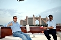 Mohamed Dekkak & Abderrahim Khaoutem Exploring the Sea in exotic Yacht at Dubai #luxuryboat #cru