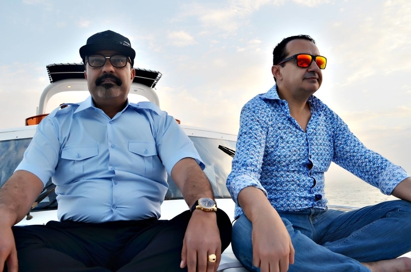 Mohamed Dekkak & Abderrahim Khaoutem having the Sea adventure on exotic Yacht at Dubai #luxurybo